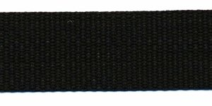 Tassenband 25 mm zwart (50 m)