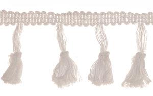 Band met kwastjes wit 50 mm (ca. 10 meter)