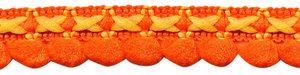 2-kleurig lusjesband oranje-geel 15 mm (ca. 16 meter)