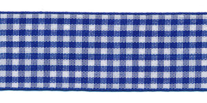 Ruit band kobalt blauw-wit 25 mm (ca. 45 m)