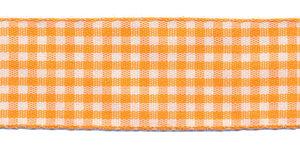 Ruit band oranje-wit 25 mm (ca. 45 m)