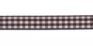 Ruit band bruin-wit 10 mm (ca. 45 m)