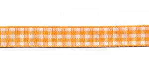 Ruit band oranje-wit 10 mm (ca. 45 m)