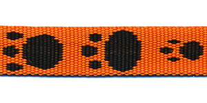 Tassenband 15 mm pootje oranje/zwart (ca. 5 m)