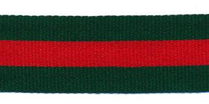 Groen-rood-groen grosgrain/ribsband 25 mm (ca. 45 m)