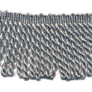 Franjeband gedraaid zilver lurex ca. 70 mm (ca. 25 meter)