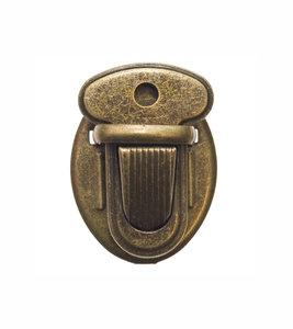 Metalen tas sluiting bronskleurig ca. 25x33 mm (10 stuks)