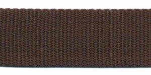 Tassenband 25 mm bruin (50 m)