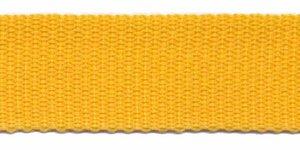 Tassenband 25 mm geel (50 m)