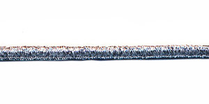Elastisch koord lurex zilver 3 mm (ca. 50 m)