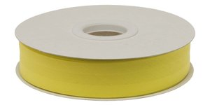Citroen geel gevouwen biaisband 20 mm (20 meter)