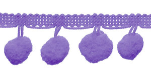 Pompom band lila 20 mm (ca. 16 meter)