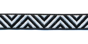 Sierband zigzag zwart-wit 12 mm (ca. 22 m)