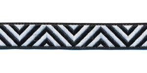 Sierband zigzag zwart-wit 12 mm (ca. 22 m)