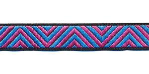 Sierband zigzag roze-blauw 12 mm (ca. 22 m)