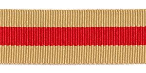 Zand-rood-zand grosgrainband 25 mm (ca. 45 m)