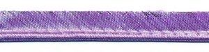Lila metallic piping-/paspelband 10 mm (ca. 10 meter)