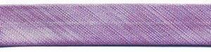 Lila metallic gevouwen biaisband 13 mm (ca. 10 meter)