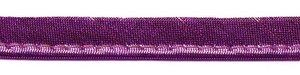 Fuchsia metallic piping-/paspelband 10 mm (ca. 10 meter)