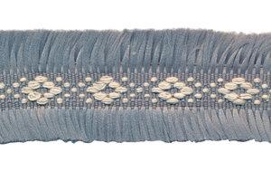 Grijs 2-zijdig franjeband aztec-stijl 30 mm (ca. 5 m)