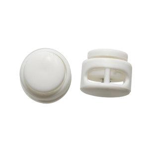 Koordstopper rond met 2 gaten wit (ca. 25 stuks)