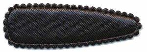 Haarkniphoesje satijn zwart 5 cm (ca. 100 stuks)