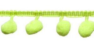 Pompom band NEON geel/groen 20 mm (ca. 16 meter)