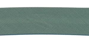 Groengrijs (#54) gevouwen biaisband 20 mm (50 meter)