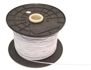 Elastisch koord - hoedenelastiek- wit 1,3 mm (ca. 100 m)