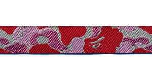 Sierband camouflage rood/roze 12 mm (ca. 22 m)