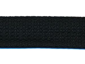 Tassenband 25 mm zwart COTTON-LOOK (ca. 50 m)