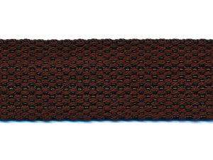 Tassenband 25 mm donker bruin COTTON-LOOK (ca. 50 m)