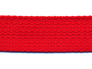 Tassenband 25 mm rood COTTON-LOOK (ca. 50 m)