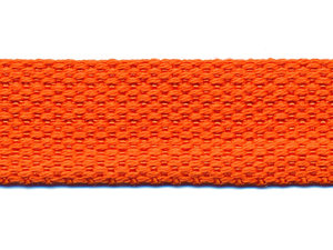 Tassenband 25 mm oranje COTTON-LOOK (ca. 50 m)