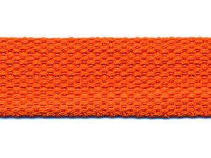 Tassenband 25 mm oranje COTTON-LOOK (ca. 50 m)