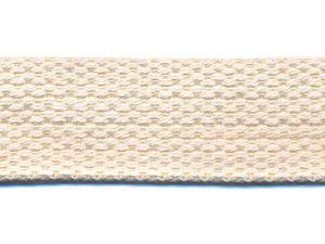 Tassenband 25 mm gebroken wit/creme COTTON-LOOK (ca. 50 m)
