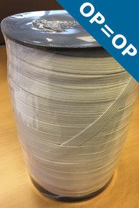 OP = OP: Wit elastiek 12 cord - ca. 10 mm (130 m)