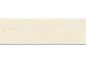 Ecru KATOENEN keperband 20 mm (ca. 50 m)