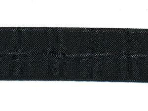 Zwart #999 elastisch biaisband BREED 25 mm (ca. 25 m)