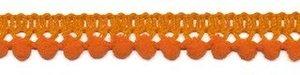Mini pompomband oranje 10 mm (ca. 32 meter)