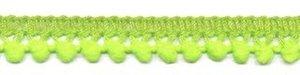 Mini pompomband NEON geel/groen 10 mm (ca. 32 meter)