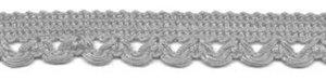 Sierband met lus-/schulprandje grijs 12 mm (ca. 32 meter)