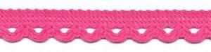 Sierband met lus-/schulprandje hard roze 12 mm (ca. 32 meter)
