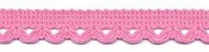 Sierband met lus-/schulprandje roze 12 mm (ca. 32 meter)