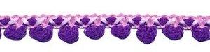 2-kleurig bolletjesband roze-paars 10 mm (ca. 16 meter)