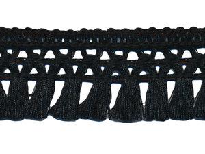 Franje-kwastjesband zwart ca. 32 mm (ca. 16 meter)