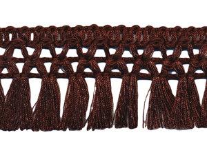 Franje-kwastjesband donker bruin ca. 32 mm (ca. 16 meter)