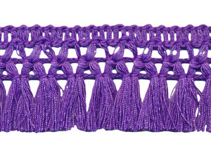 Franje-kwastjesband paars ca. 32 mm (ca. 16 meter)