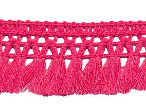 Franje-kwastjesband oud roze ca. 32 mm (ca. 16 meter)