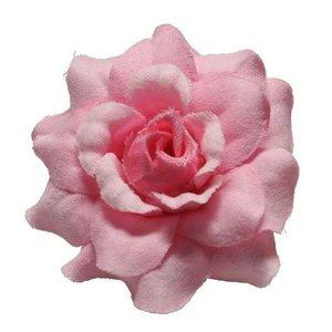 Roos roze stof ca. 4,5 cm (10 stuks)